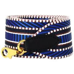 Hermes '18 Bleu Zellige-Indigo/Nior Canvas/Leather Sangle Cavale 50 MM Bag Strap