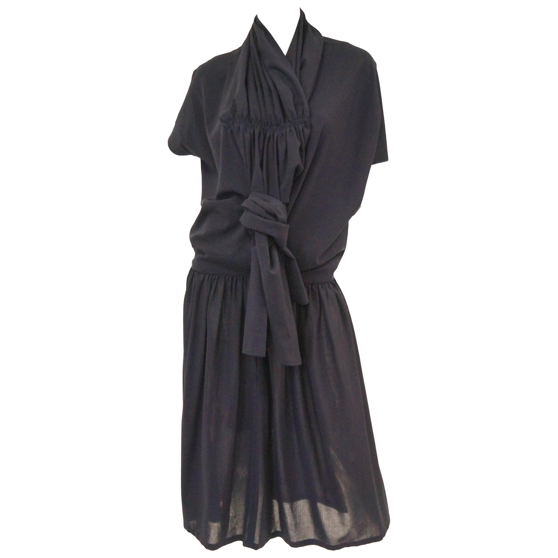 1990 Yohji Yamamoto Avant Garde Open Back Wool Dress