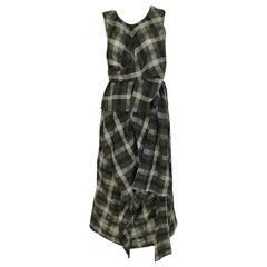 Comme des Garçons Grey and White plaid cotton dress