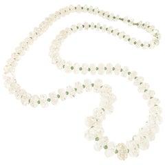 Edwardian Rock Crystal Opera Length Necklace Circa 1910