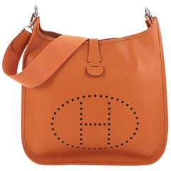 Hermes Evelyne Crossbody Gen I Courchevel GM