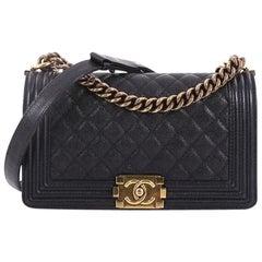 Chanel Boy Flap Bag Gesteppte Kaviar Tasche Alt Medium