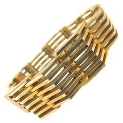 Roger Edet Paris Modernist Architectural Link Bracelet 1940s