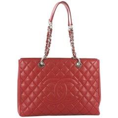 Chanel Große Shopping Leder Tasche Gesteppter Kaviar