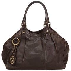 Gucci Brown Leather Sukey Hobo Bag