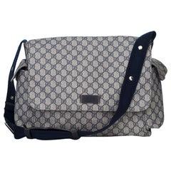 Gucci Blue GG Plus Diaper Bag