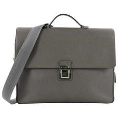 Louis Vuitton Vassili Handbag Taiga Leather PM