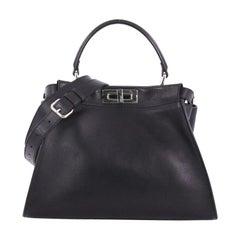Fendi Peekaboo Monster Handbag Calfskin and Python Regular