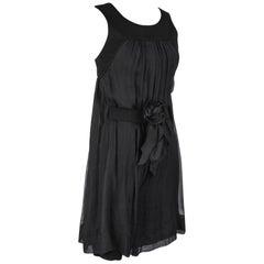 Chanel 13P Dress Black Sleeveless Culotte 34 / 2