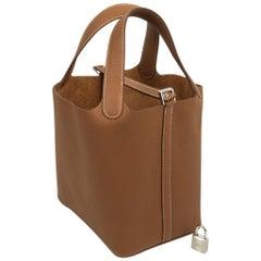 Hermes Picotin Lock 18 Bag Gold Clemence Tote Palladium Hardware