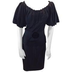 Zac Posen Black Three Piece Skirt Set