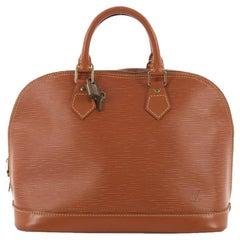 Vintage Louis Vuitton Alma Handtasche Epi Leder Uhr
