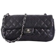 Chanel CC, Kette, Klappdeckel-Tasche, gesteppt, Kaviar, East West