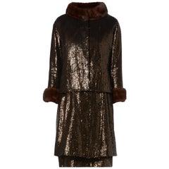 Yves Saint Laurent, Haute couture brown dress suit, Autumn/Winter 1964