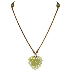 Circa 1970 Miriam Haskell Jade Glass Necklace