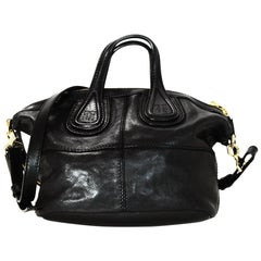 Givenchy Black Lambskin Leather Micro Nightingale Crossbody Bag
