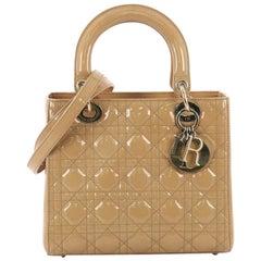 Christian Dior Damen Dior Handtasche Cannage Quilt Patent Medium