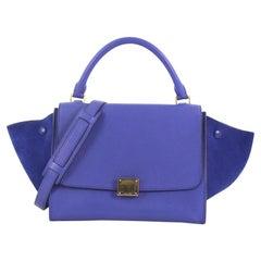 Celine Trapez Handtasche Leder klein