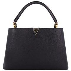 Louis Vuitton Capucines Leder Handtasche, MM