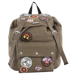 Saint Laurent Noe Backpack Canvas with Patches Large