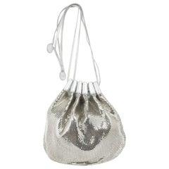 Chloe Metallic Mesh Drawstring Bag