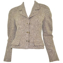 Chanel Cashmere-Blend Tweed Cropped Jacket 1999 A