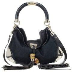 Gucci Monogram Black Canvas Indy Bag