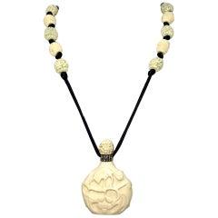 Circa 1960s Hattie Carnegie Asian Motif Pendant Necklace