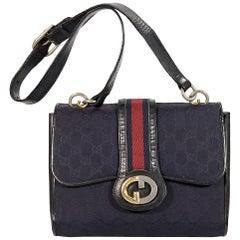 Navy Blue Vintage Gucci Shoulder Bag