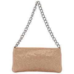 Chanel Camellia Chain Pochette Satin Small