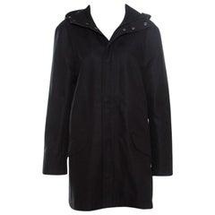 Zadig and Voltaire Black Zip Front Kar Parka Jacket L