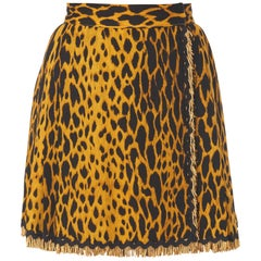 Gianni Versace Haut Couture Pleated leopard print mini skirt, Spring/Summer 1992