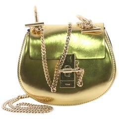 Chloe Drew Crossbody Bag Mirror Leather Nano
