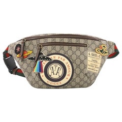 Gucci Courrier Zip Belt Bag GG Coated Canvas with Applique
