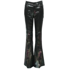 New Tom Ford S/S 2015 Collection Women's Holographic Stretch Pants Jeans It. 40