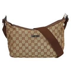 Gucci Brown Guccissima Jacquard Crossbody Bag