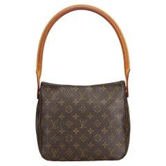 Louis Vuitton Braune Tasche mit Monogram, Looping-Henkel, MM