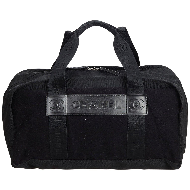 3030edfa6a4b Chanel Brown Nylon Sports Line Duffle Bag at 1stdibs