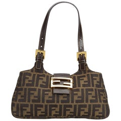Fendi Brown Zucca Canvas Handbag