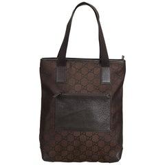 Gucci Brown GG Jacquard Tote Bag