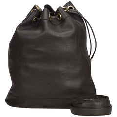 Gucci Brown Leather Bucket Bag