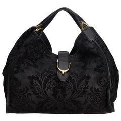 Gucci Black Leather Stirrup Bag
