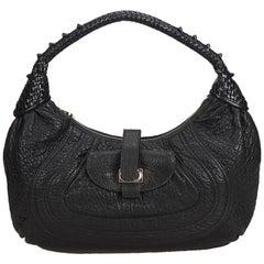 Fendi Black Leather Spy Hobo Bag