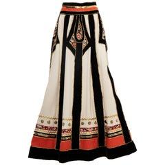 Youssef Rizkallah for Malcolm Starr Caspian Sea Collection Skirt, Circa: 1971