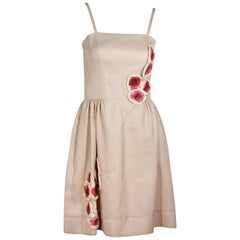 Pink Fendi Floral Dress
