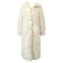 Incredible 1970s Arissa of France Ivory String 'Faux Fur' Alternative Coat