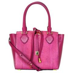Michael Kors Pink Leather/Python Extra Small Miranda Crossbody Bag