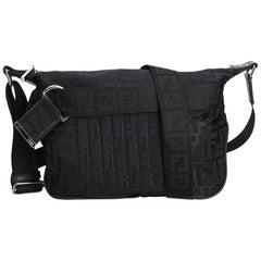 Fendi Black Zucca Jacquard Crossbody Bag