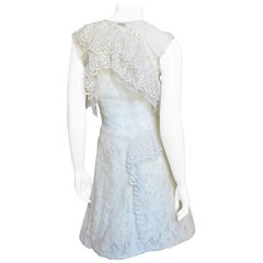 Nina Ricci Lace Cutout Back Dress