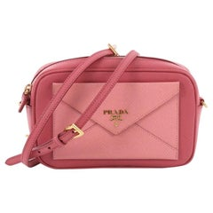 Prada Front Pocket Zip Crossbody Bag Saffiano Leather Mini